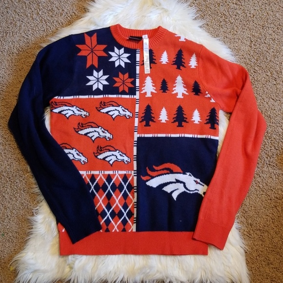 quality design daef0 00a30 Denver Broncos ugly Christmas sweater